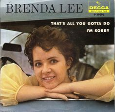 July 18, 1960 - Brenda Lee went to No.1 on the US singles chart with 'I'm Sorry' it made No.12 in the UK. Seeking publicity the 4' 11 tall singer was once billed as a 32-year- old midget and had the nickname Little Miss Dynamite. •• #brendalee #thisdayinmusic #1960s #song #country #pop #deccarecords