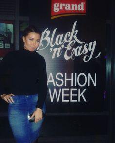 """""""@ Fashion Week Awards #fashion #bgfw #fashionweek #fashionblogger #fashionista #blogger #blackanddenim #black #denim #hairgoals #serbianbeauties…"""""""