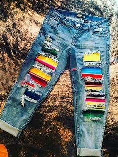 Denim Art, Jeans Material, Denim Jumpsuit, Casual T Shirts, Ripped Jeans, Denim Jeans, Vintage Denim, Online Shopping Clothes, Stripes