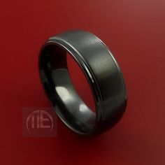 Black Zirconium Ring Traditional Style Band