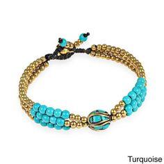 Shop Handmade Mix Stone Tibetan Beads Bracelet (Thailand) - On Sale - Overstock - 9930087 - MultiColor