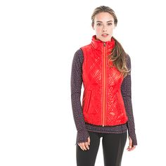 You'll be aglow in this quilted, windproof vest with a durable water-repellent finish. Winter Vest, Quilted Vest, Outdoor Woman, Winter Wardrobe, Style Guides, Leather Jacket, Stylish, Womens Fashion, Jackets