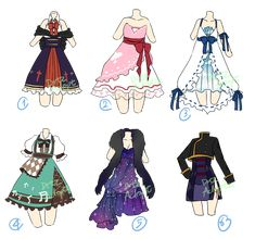 Adoptable : Random dresses [2/6 OPEN] by DrtzAdopt.deviantart.com on @DeviantArt