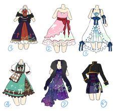 Adoptable : Random dresses [2/6 OPEN] by DrtzAdopt.deviantart.com on @DeviantArt