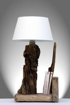 bois flotté, bricolage, recup, recyclage, deco marine : le blog de recup-o-bois-flotté: lampe en bois flotté (1)