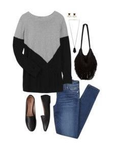 Love this unique but basic sweater!! 41Hawthorn Presley Colorblock Button-Back Sweater // Stitch Fix