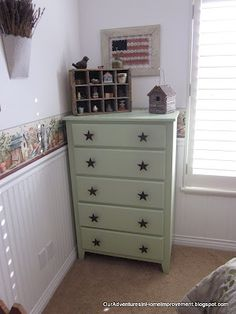 Our Adventures in Home Improvement: Dresser Transformation & Homemade Drawer Pulls