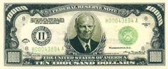 Eisenhower $10,000 Bill With Bill Protector ** This is an Amazon Affiliate link. For more information, visit image link.