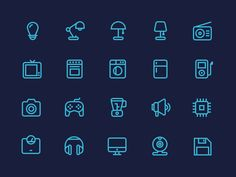 Outline Electronics Icons  by Justas Galaburda