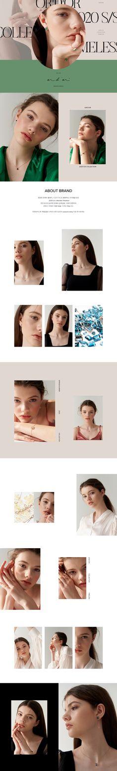 #2020년4월5주차#영문#w컨셉 Fashion Web Design, Web Ui Design, Page Design, Branding Design, Website Layout, Web Layout, Layout Design, Jewelry Website, Commercial Design