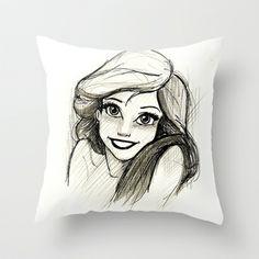 Ariel Throw Pillow by MaithaDemithan - $20.00
