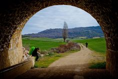 the pilgrimage route to the Cathedral of Santiago de Compostela in Galicia in northwestern Spain, where tradition has it that the remains of the apostle Saint James are buried. Pamplona, Bilbao, The Camino, Camino Trail, Culture Travel, Spain Travel, Beautiful Places, Scenery, Places To Visit