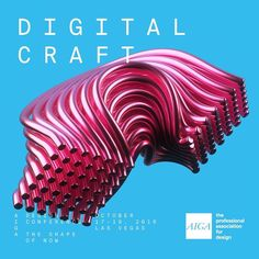 A visual representing #digitalcraft for the @aigadesign conference. Working with @mothernewyork #AIGAdesignconference