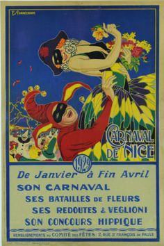 Affiche ancienne - Carnaval de Nice 1929 - in Collections, Calendriers, tickets, affiches, Affiches pub: anciennes | eBay
