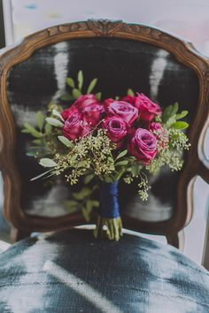 rose wedding bouquet, photo by Amber Gress http://ruffledblog.com/a-styled-wedding-at-brooklyns-wythe-hotel #weddingbouquet #bouquets #flowers