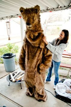 diy bear costume! - for creatures frolicking in the haunted wood....