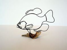 Crappie Wire Sculpture by WiredbyBud on Etsy, $35.00