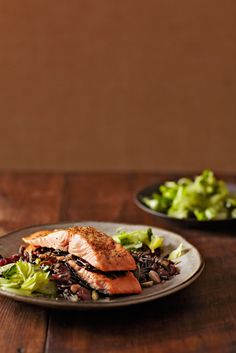 Salmon and Wild Rice Napoleon  from familycircle.com #myplate #fish