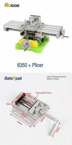 BG-6350 Mini Compound Bench/woodworking benches,RCIDOS table sliding cross table,drill machine work bench+2.5inch Plicers