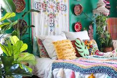 These rooms are maximalist, Bohemian and full of color. Boho decor lovers will adore them.