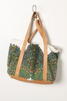 anthro mesmer tote in peacock.
