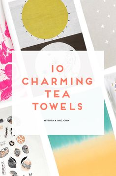 Tea towels to dress up your kitchen and to make cleaning a stylish job