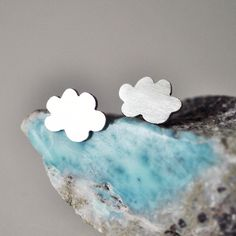Happy Cloud Stud Earrings made of Sterling Silver. $55.00, via Etsy.