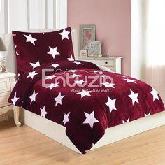 Povlečení HVĚZDY WINE mikroflanel, 140x200cm + 70x90cm | TextilCentrum.cz Comforters, Decor, Furniture, Bed, Home, Home Decor