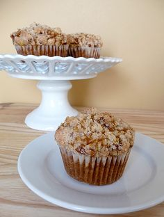 These are delicious! Pumpkin and Cream Cheese Muffins with Pecan Streusel