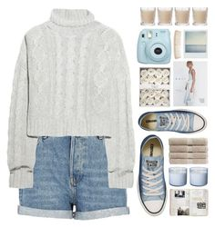 """""""SERENITY"""" by emmas-fashion-diary ❤ liked on Polyvore featuring River Island, Bamford, Polaroid, Shabby Chic, Christy and Converse"""
