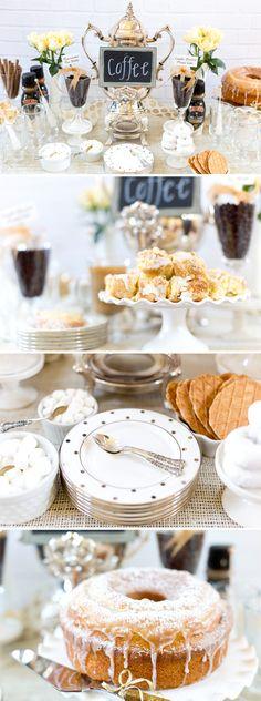 Mesa de merienda perfecta en una #boda de invierno. #inspiración