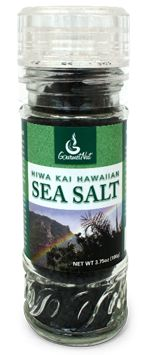 Hiwa Kai Hawaiian Sea Salt has a stunning black color and silky texture. Solar evaporated Pacific sea salt is combined with activated charcoal. This compliments the natural salt flavor and adds numerous health benefits to the salt.