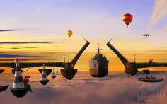 Arouse Your Imagination in Surrealistic Paintings That Defy Gravity on http://naldzgraphics.net