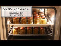 Como envasar salsas al vació en el horno!! - YouTube Youtube, Preserve, Sauces, Oven