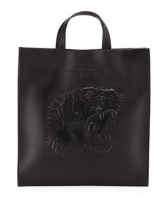 2c10fc0d5480 GUCCI Men'S Embossed Leather L'Aveugle Par Amour Tiger Tote, Black. #gucci  #bags #shoulder bags #hand bags #leather #tote #lining #
