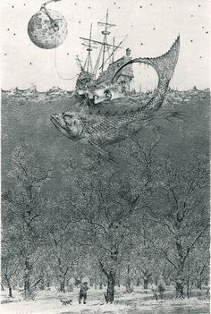 remash:    flight to nowhere | mezzotint ~ konstantin kalinovich via: seabois