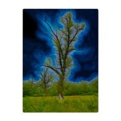 new at @CafePress : Old #Tree #Glass #Cutting #Board An old tree Photo as a #fractal image. The colors #blue and #green stand out  $34.49
