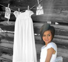 Cute LDS Baptism Photo Idea - #2 white dress with #1 white dress/picture in the picture-- then wow by her sealing- all 3 white dresses!!
