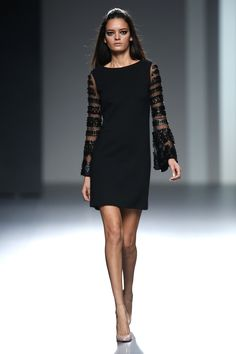 Teresa Helbig, Madrid Mercedes-Benz Fashion Week Fall 2013   ||  Simple and classy, with a little something special