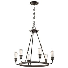 - Overview - Details - Why We Love It - Designed to make an impact, the 6 Light Lucien Industrial Chandelier is a crowd pleaser and will have your place looking like a swank urban loft in the blink of