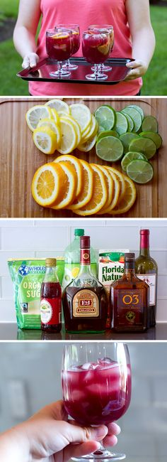 Sangria is the best drink for summer backyard gatherings! This sangria recipe is always a hit with friends. This is not a simple sangria recipe. There are lots of ingredients but trust me, you want to try this. Once you've invested in the ingredients you can make it all summer long! The perfect excuse to