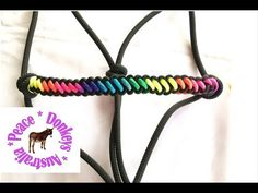 Multi-colour 'bootlace' noseband for a horse halter - YouTube