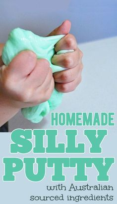 Simple homemade silly putty recipe using just three ingredients.
