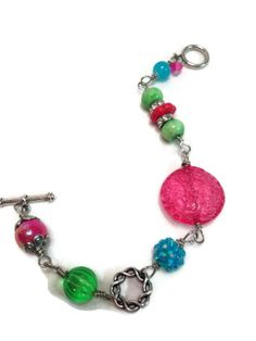 Items similar to handmade beaded bracelet, bright bracelet, colorful bracelet, beaded jewelry, silver bracelet on Etsy Beaded Jewelry, Beaded Bracelets, Unique Jewelry, Colorful Bracelets, Bright, Handmade Gifts, Silver, Etsy, Vintage