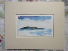 Far Island - Original Art - Maine Landscape - Olivia Atherton by theRandoMshoE on Etsy