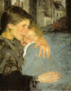 Motherhood by Olga Boznańska (Polish), oil on canvas, genre: Post-Impressionism, 1902 Mother And Child Reunion, Mother And Baby, Female Painters, Post Impressionism, Painting & Drawing, Illustration, Art For Kids, Art Photography, Fine Art