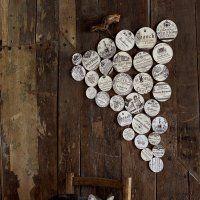 Une grappe de raisin en étiquettes de vin - Marie Claire Idées
