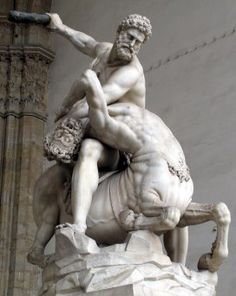 Heracles and Nessus by Giambologna, (1599), Florence. 2