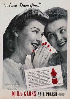 Dura-Gloss nail polish ad