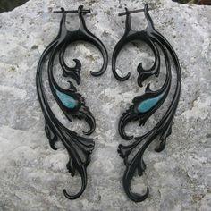 #Dark #Black #Wing #Earrings